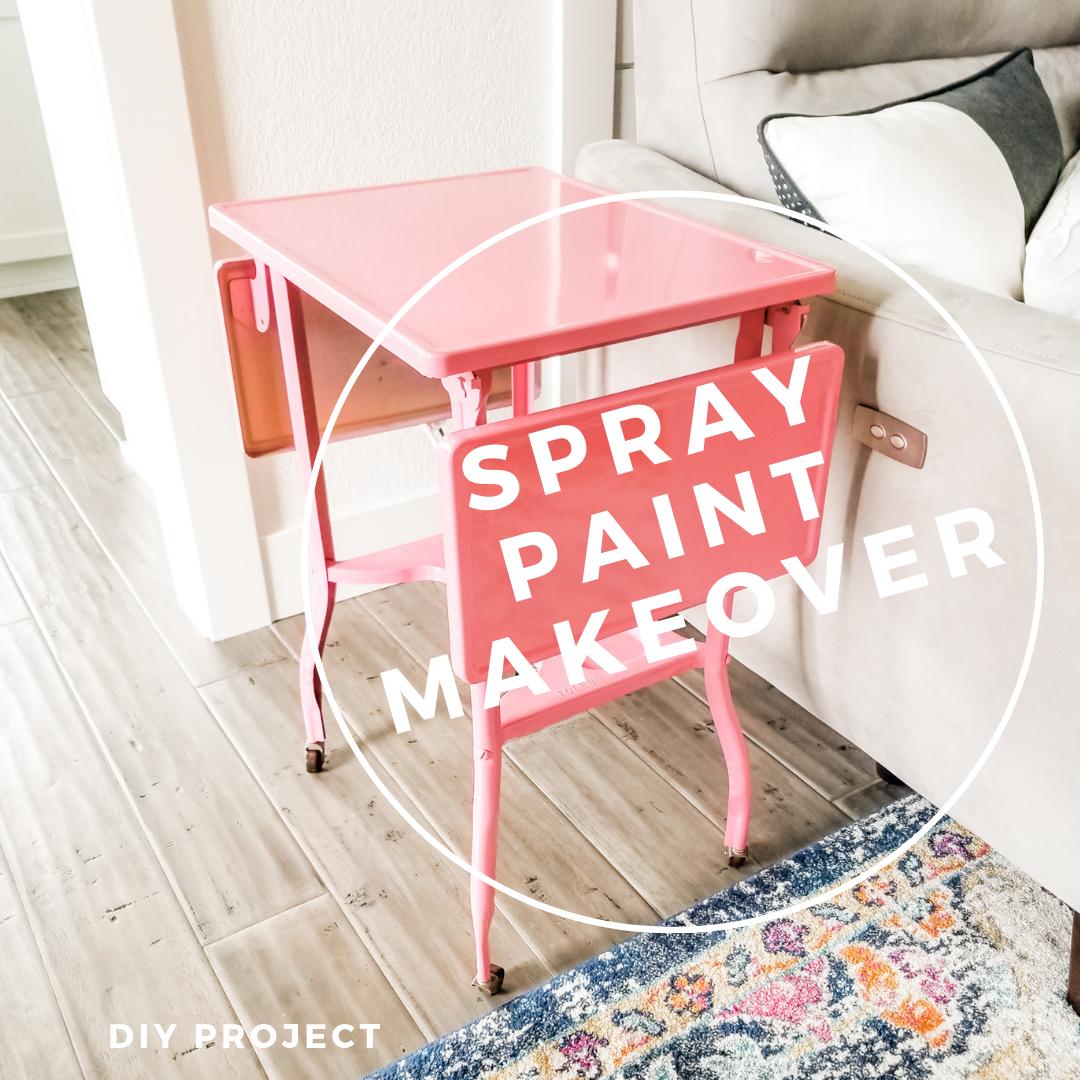 Chalk spray paint makeover