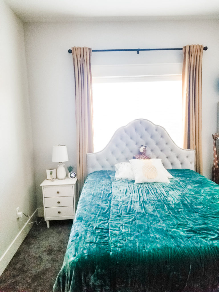 Easy and Affordable Accent Wall + Headboard