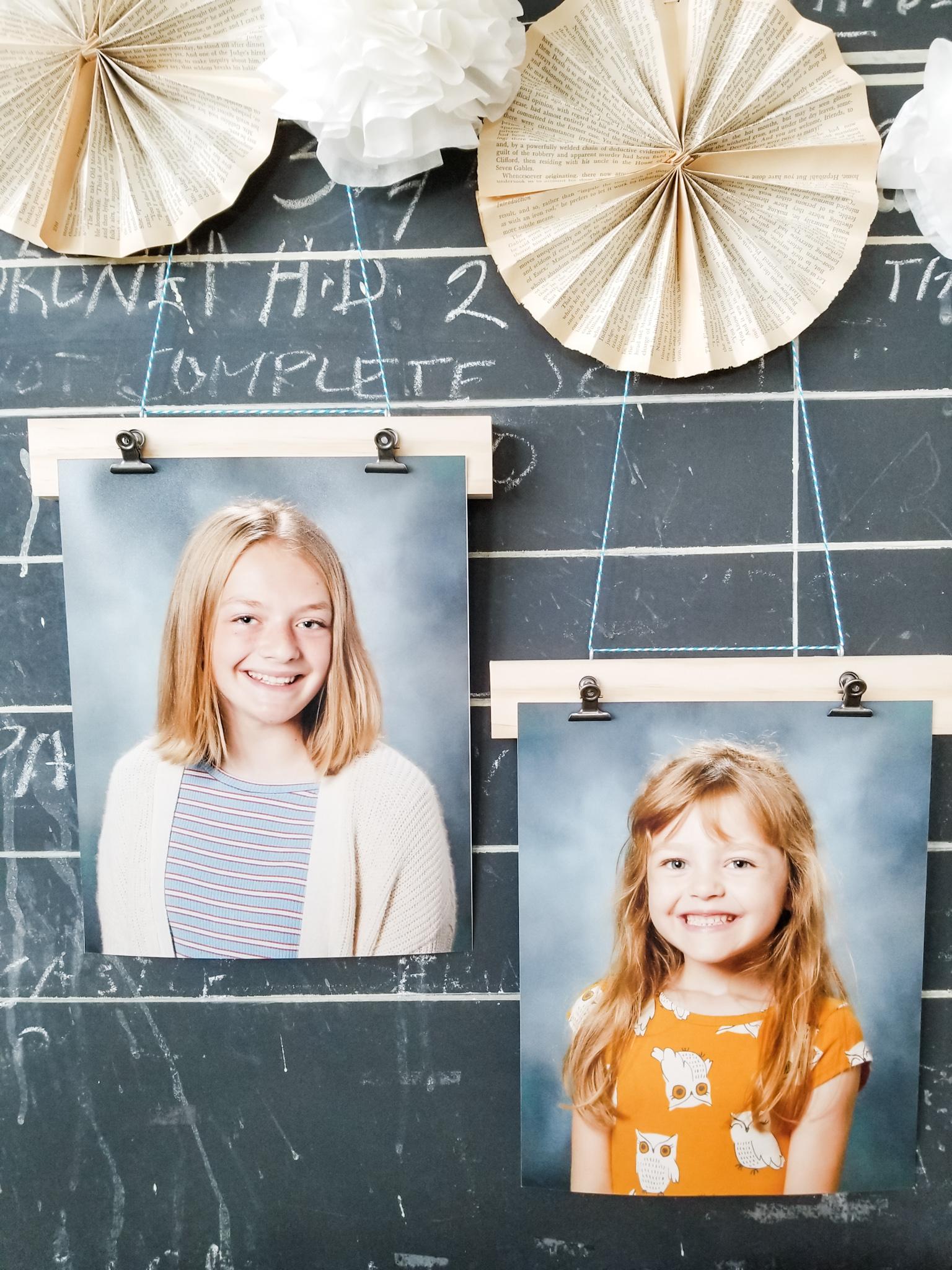 school house style photo frames