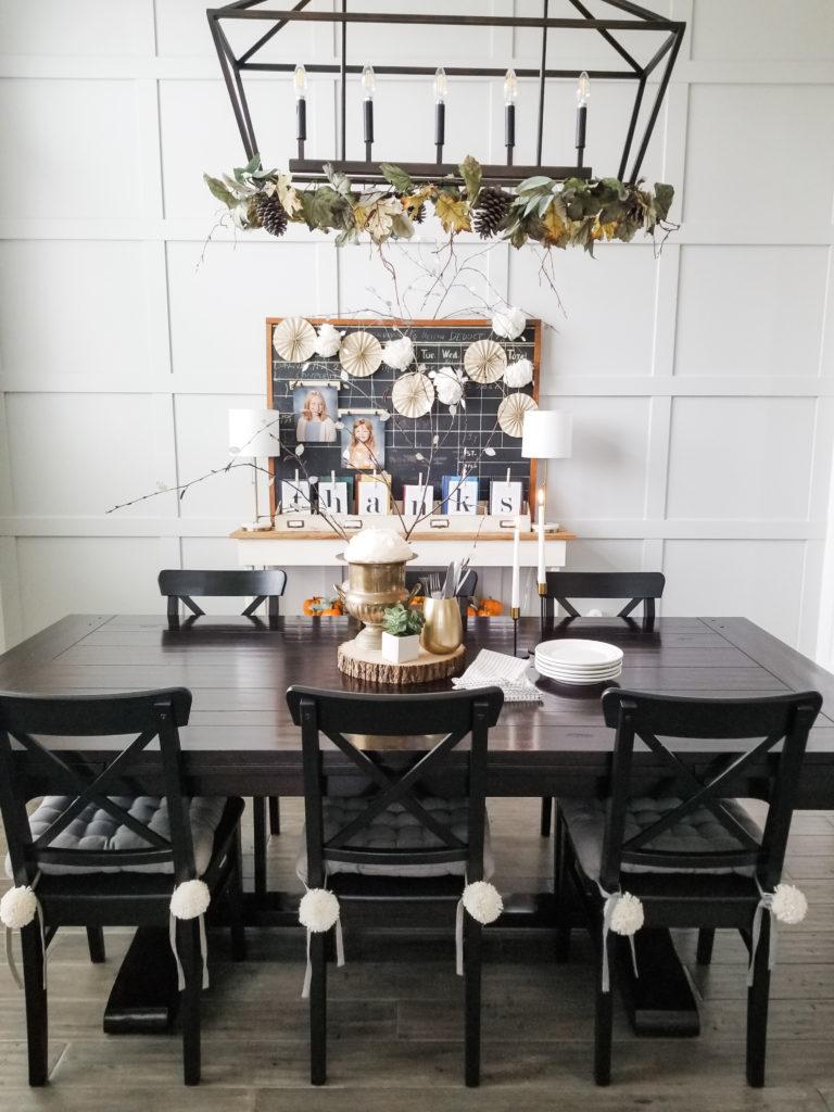 Creative Thanksgiving dining room decor