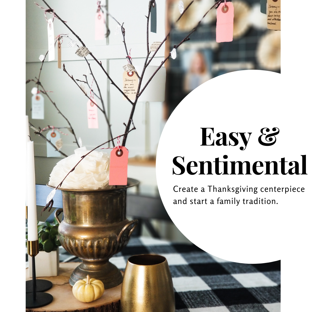 Easy and sentimental thanksgiving centerpiece