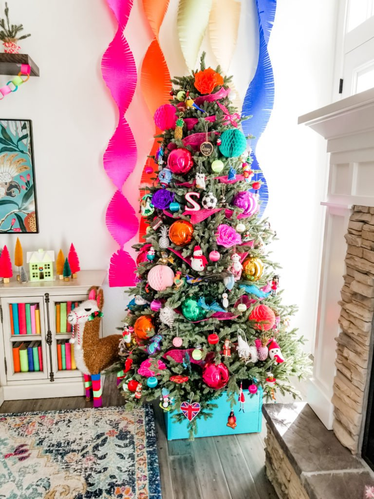 Merry and bright Christmas tree