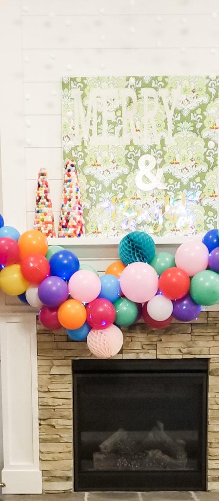 Colorful balloon garland