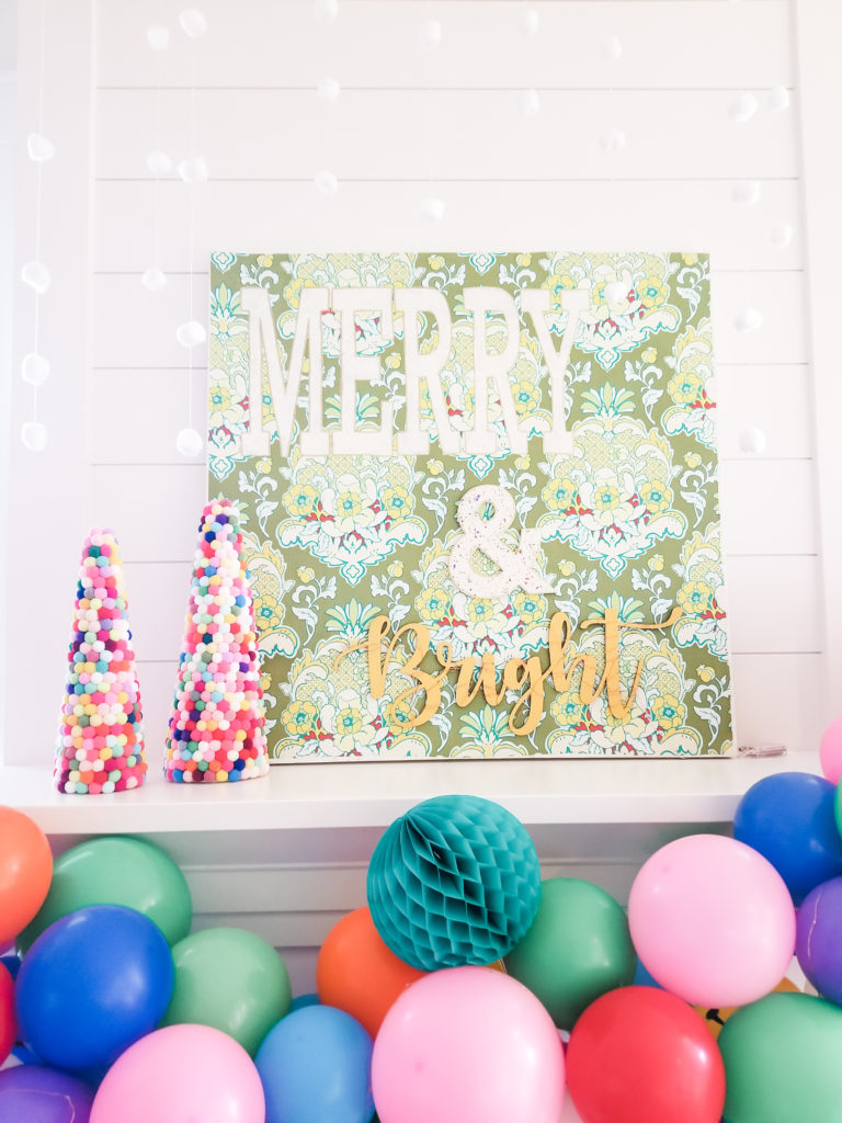 Merry and bright canvas art