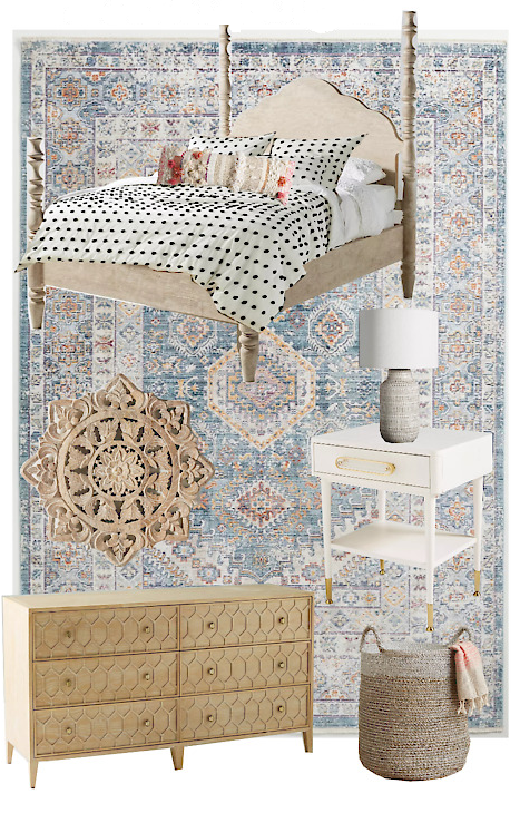 How to create an Anthropologie bedroom for less