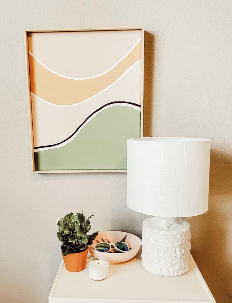 Gorgeous boho canvas art and DIY frame