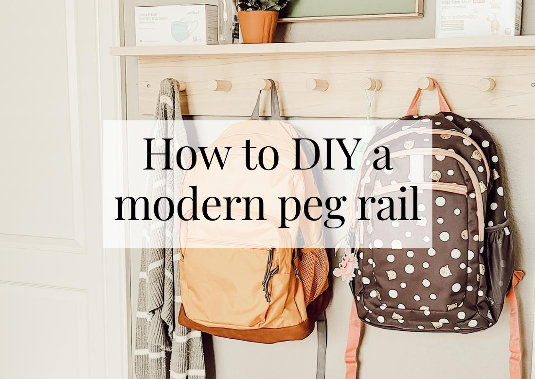 How to DIY a moden peg rail