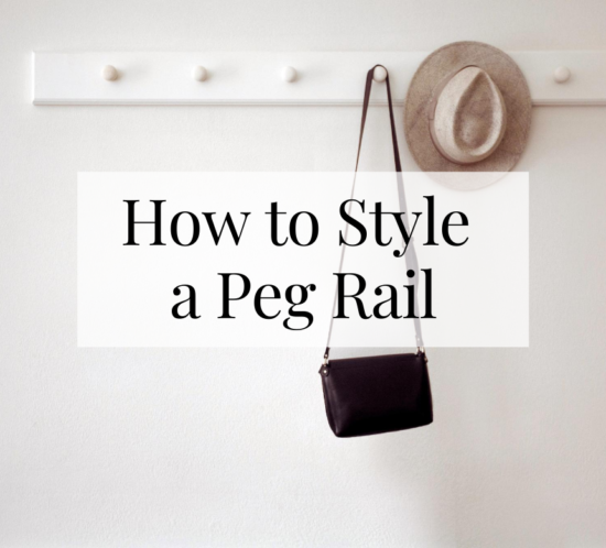 how to style a peg rail