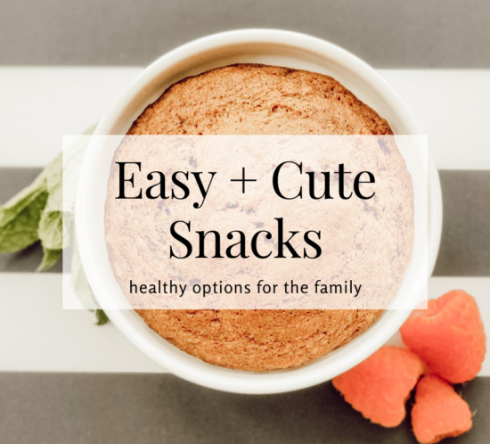 Easy and cute back to school snacks
