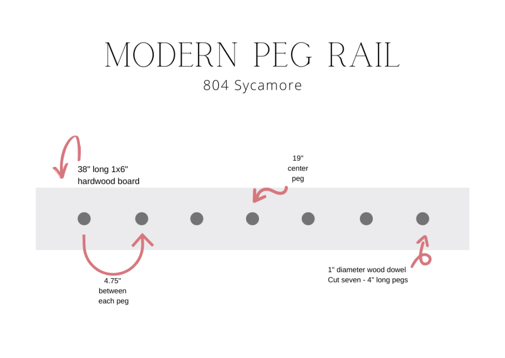 How to DIY a modern peg rail