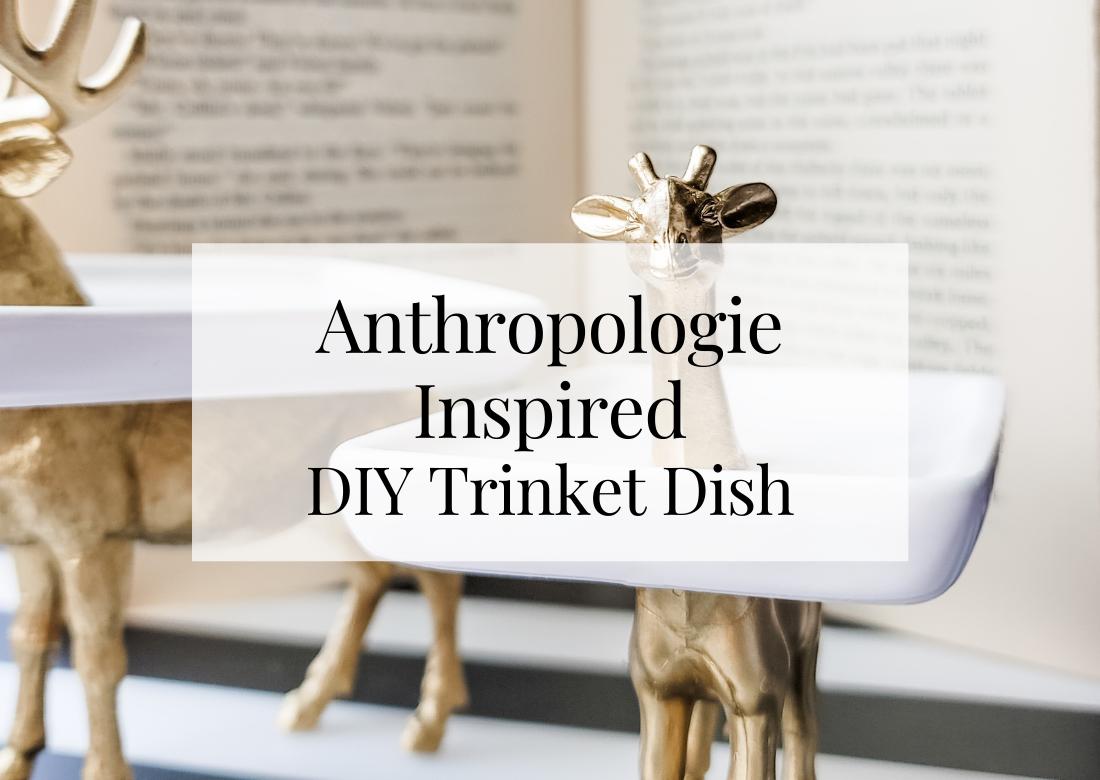 Anthropologie Inspired DIY Animal Trinket Dish
