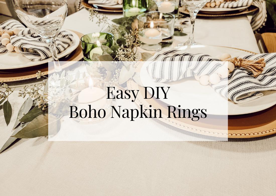 Easy DIY Boho Napkin Rings