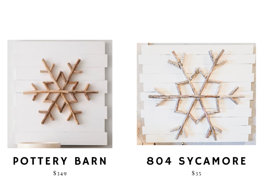 Pottery Barn Inspired DIY Christmas Snowflake