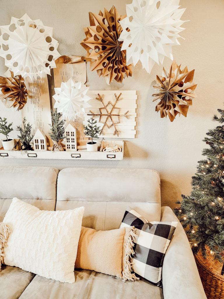 Amazing DIY Dollar Store Giant Snowflakes