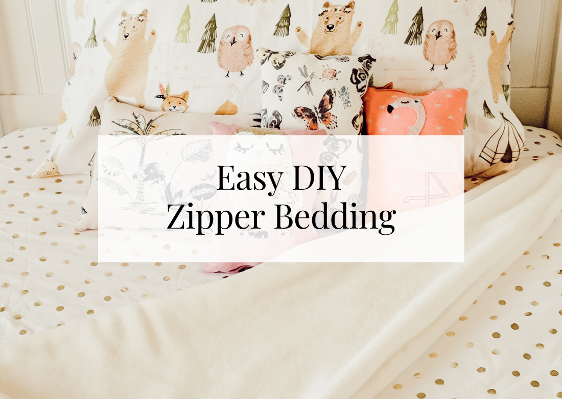 Easy DIY Zipper Bedding