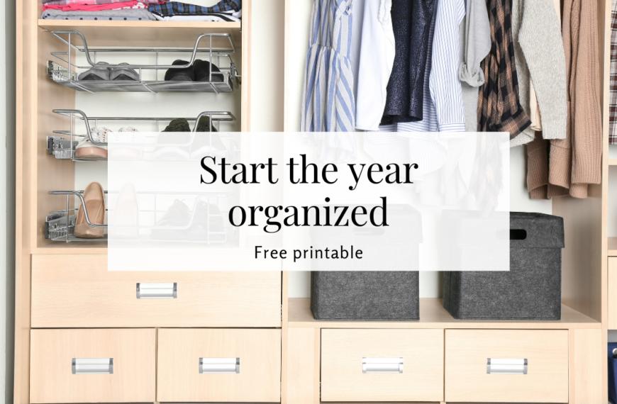 Free calendar to start the new year organized