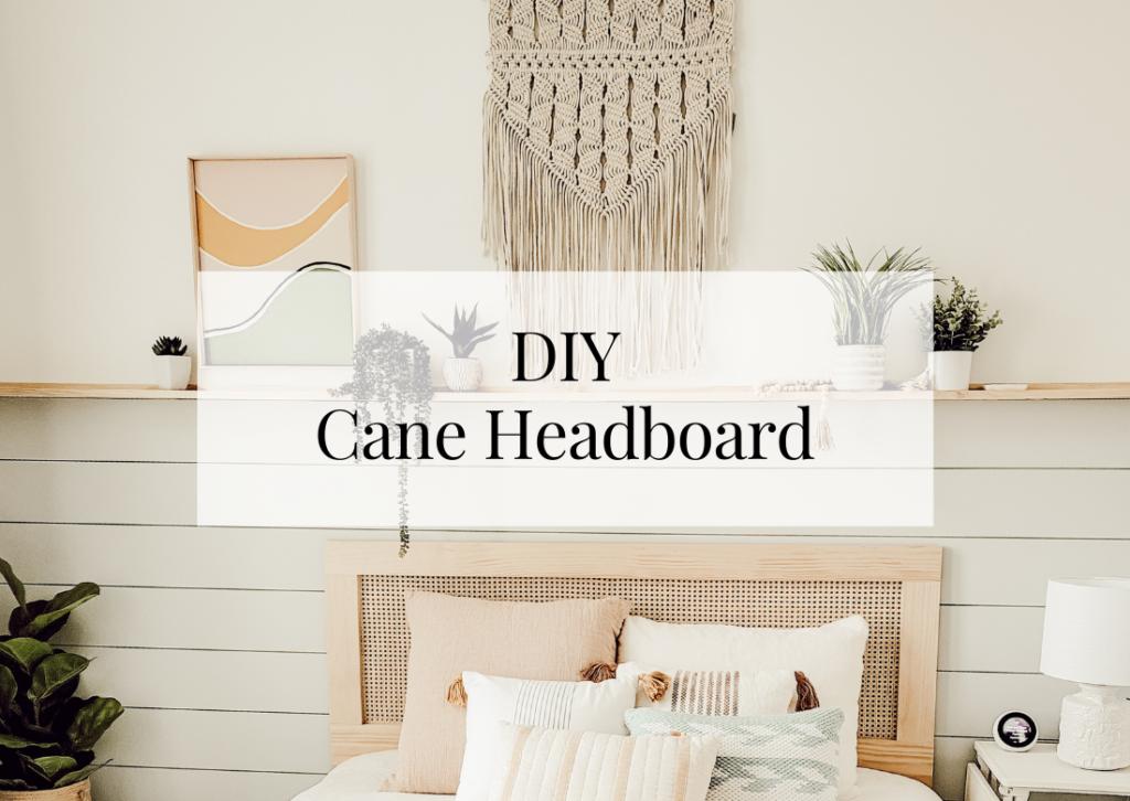 Affordable DIY Cane Headboard