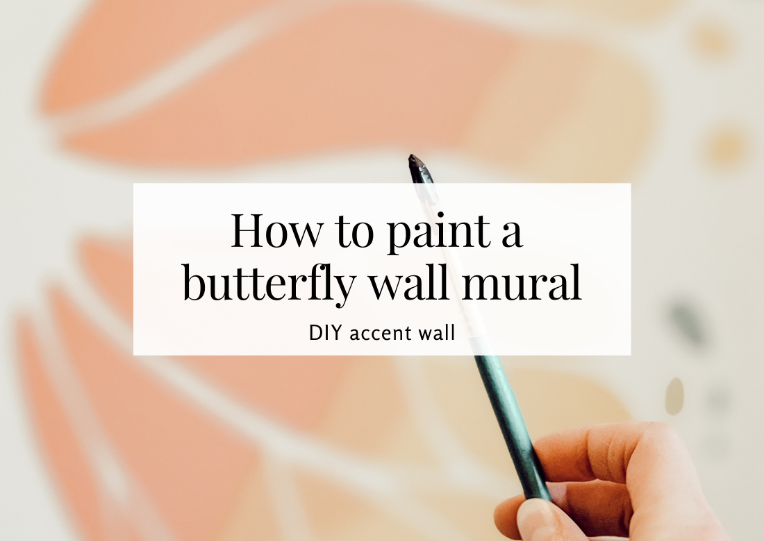 how to paint a butterfly wall mural