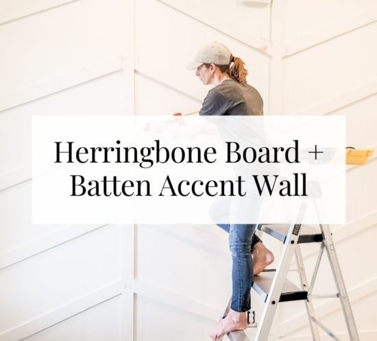 Gorgeous herringbone board and batten accent wall