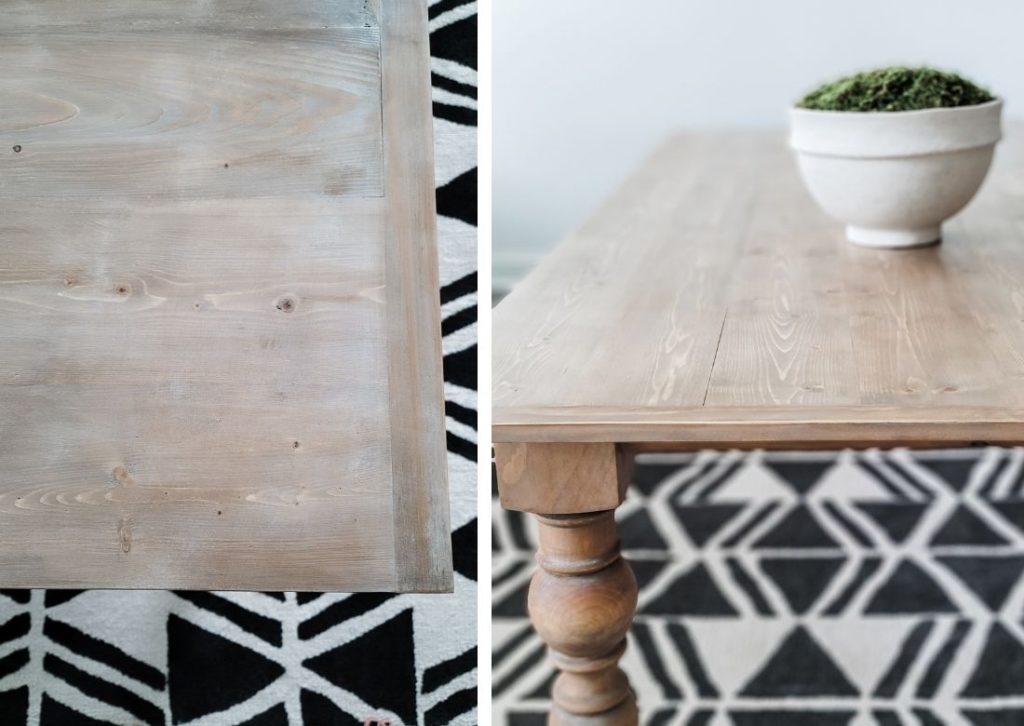 DIY Vintage Farmhouse Dining Table - Arhaus copycat