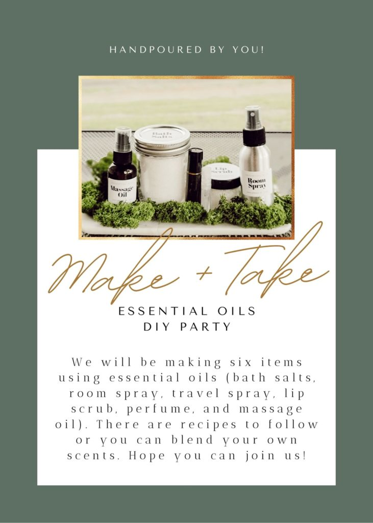 Essential Oils Make and Take DIY party invite