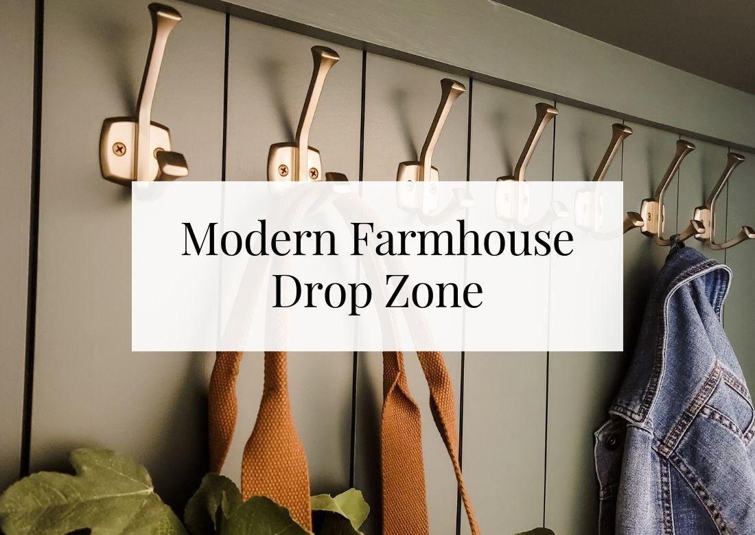 Modern Farmhouse DIY Drop Zone